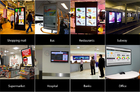 Commercial Notebook Tablet PC , Multi Touch Screen WiFi Elevator Signage Display